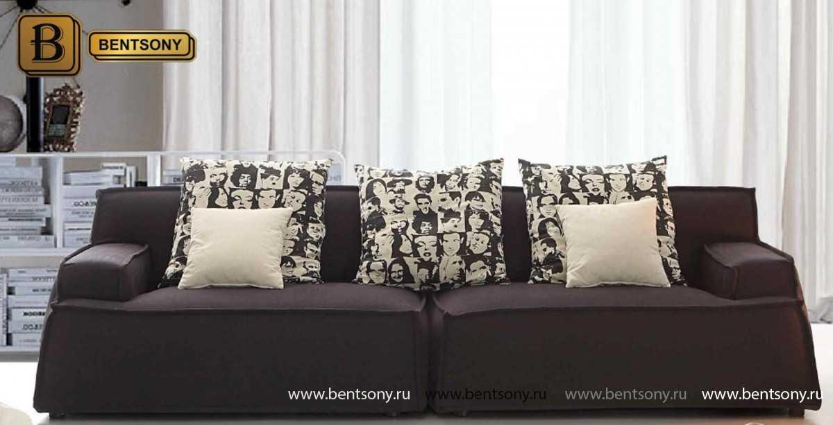 купить черный прямой диван