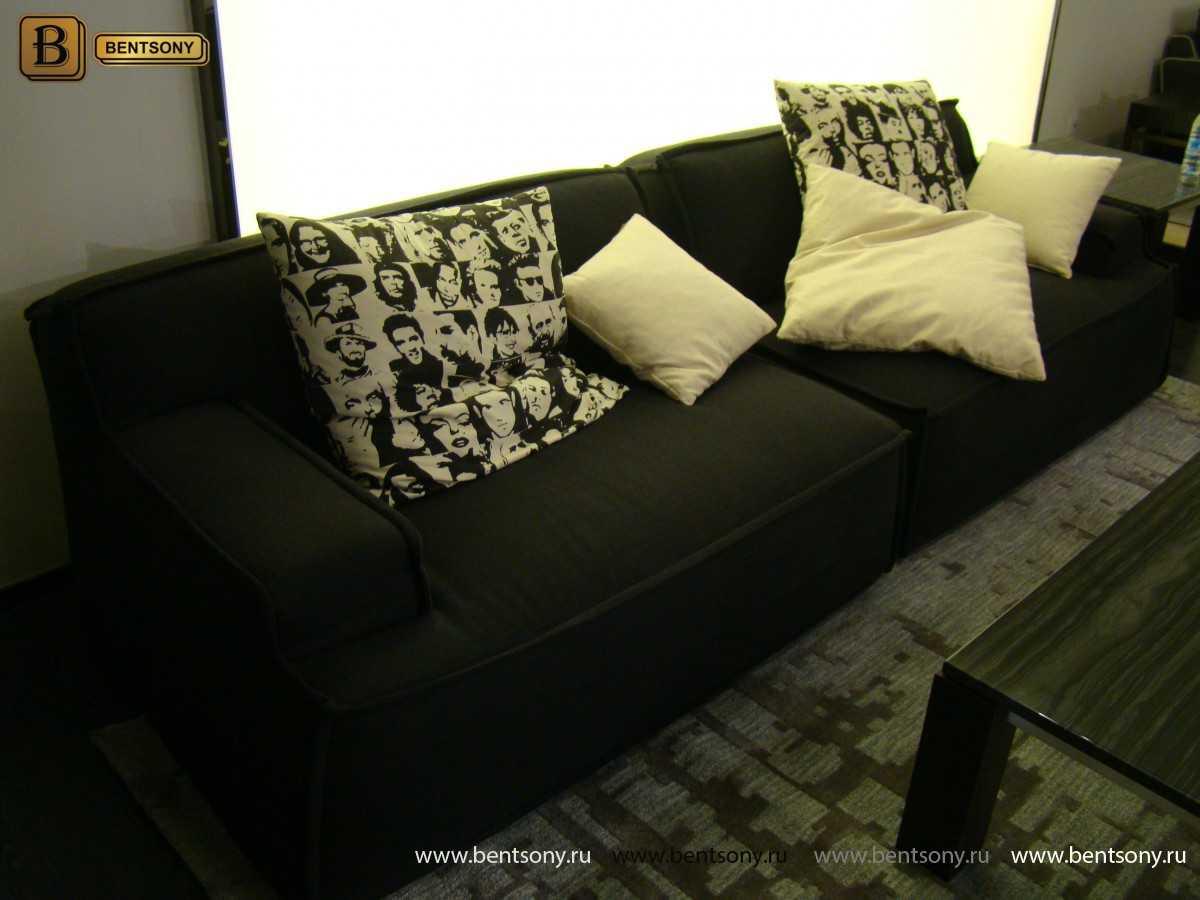 диван с подушками Галардо черный