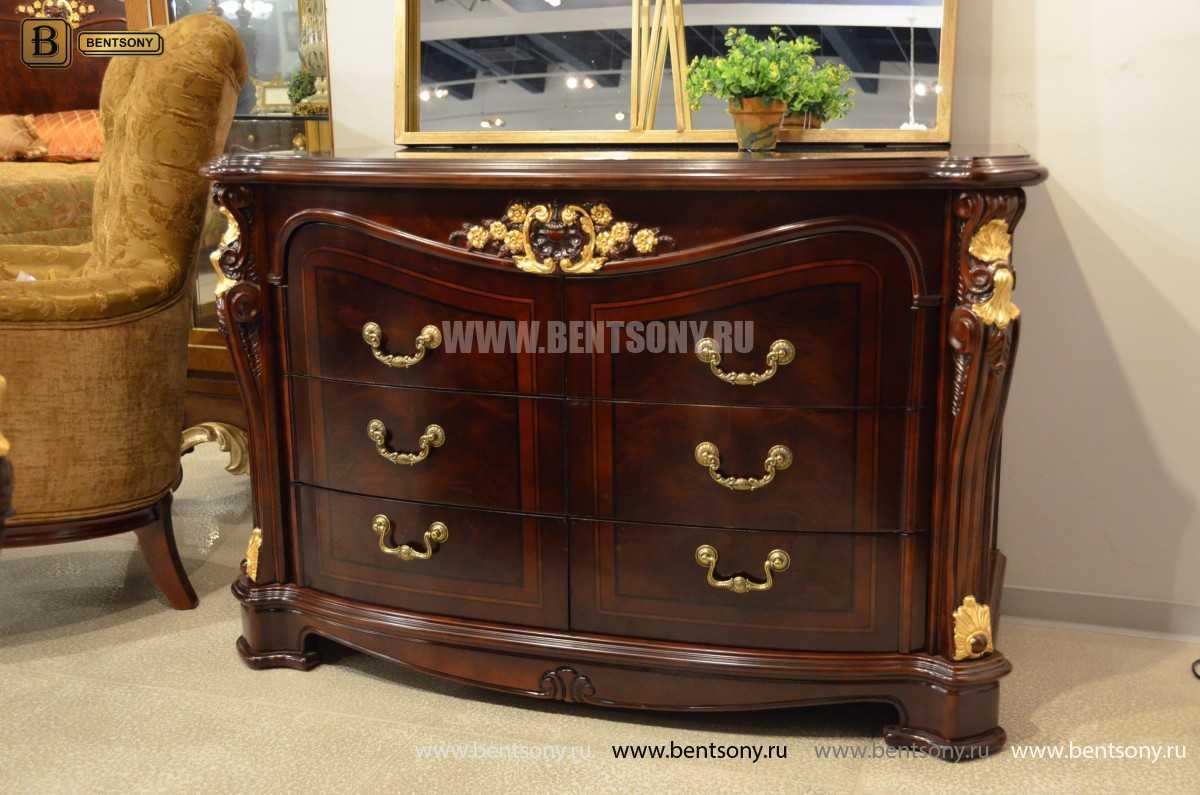 Комод широкий Вагнер (Массив дерева, классика) каталог мебели с ценами