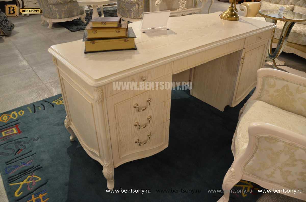 Письменный стол Флетчер-W (Классика, массив дерева)