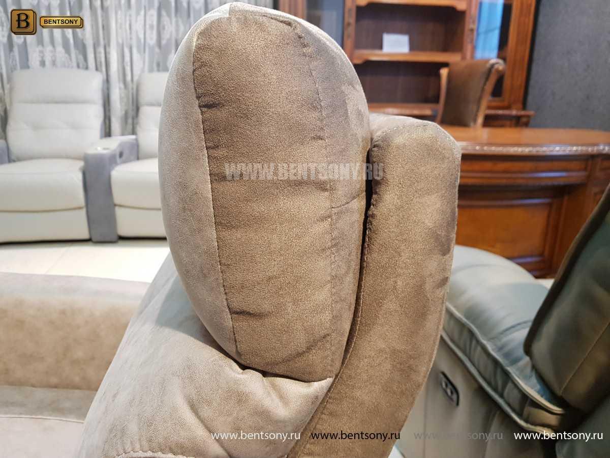 Кресло Эдвард (Реклайнер, Алькантара) каталог мебели с ценами