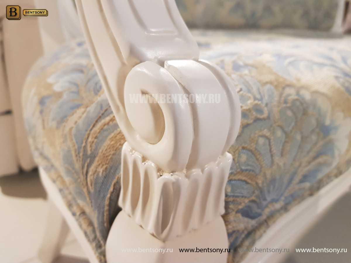 Банкетка Флетчер-W белая (Ткань, классика)