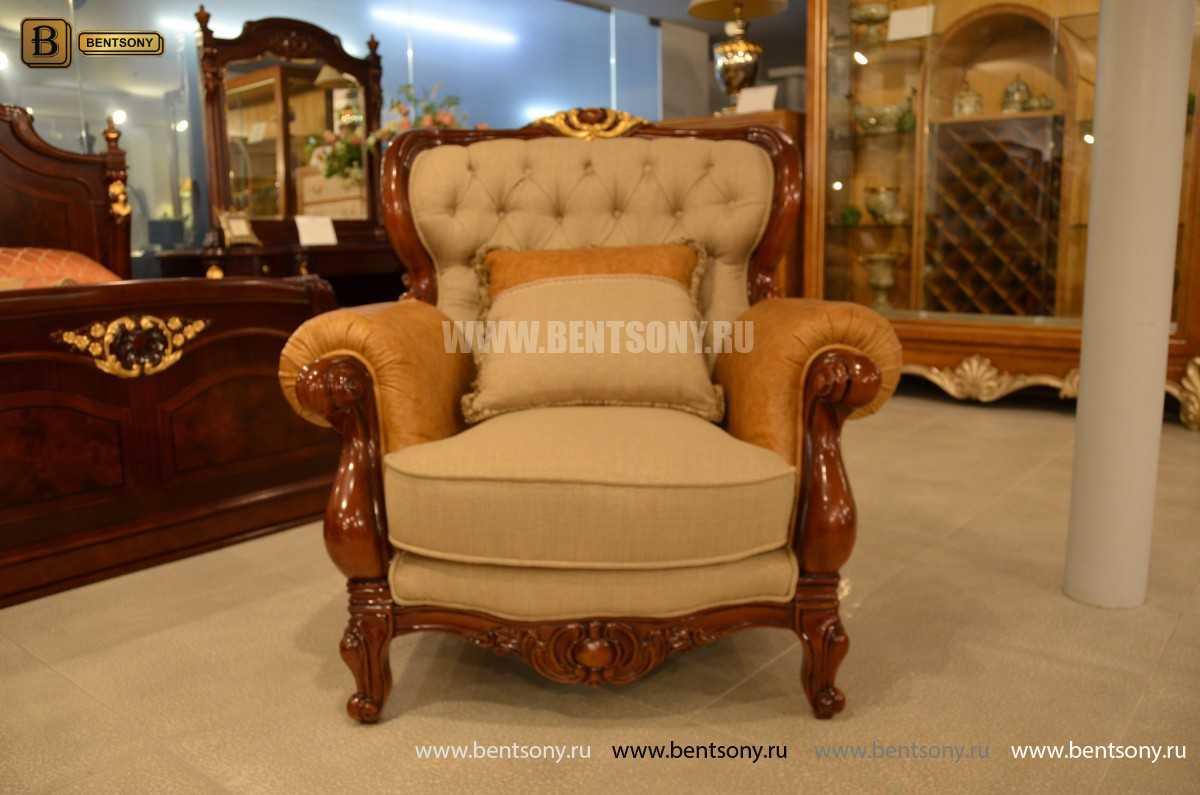 Кресло Вагнер А классическое (Подлокотники кожа) купить в Москве