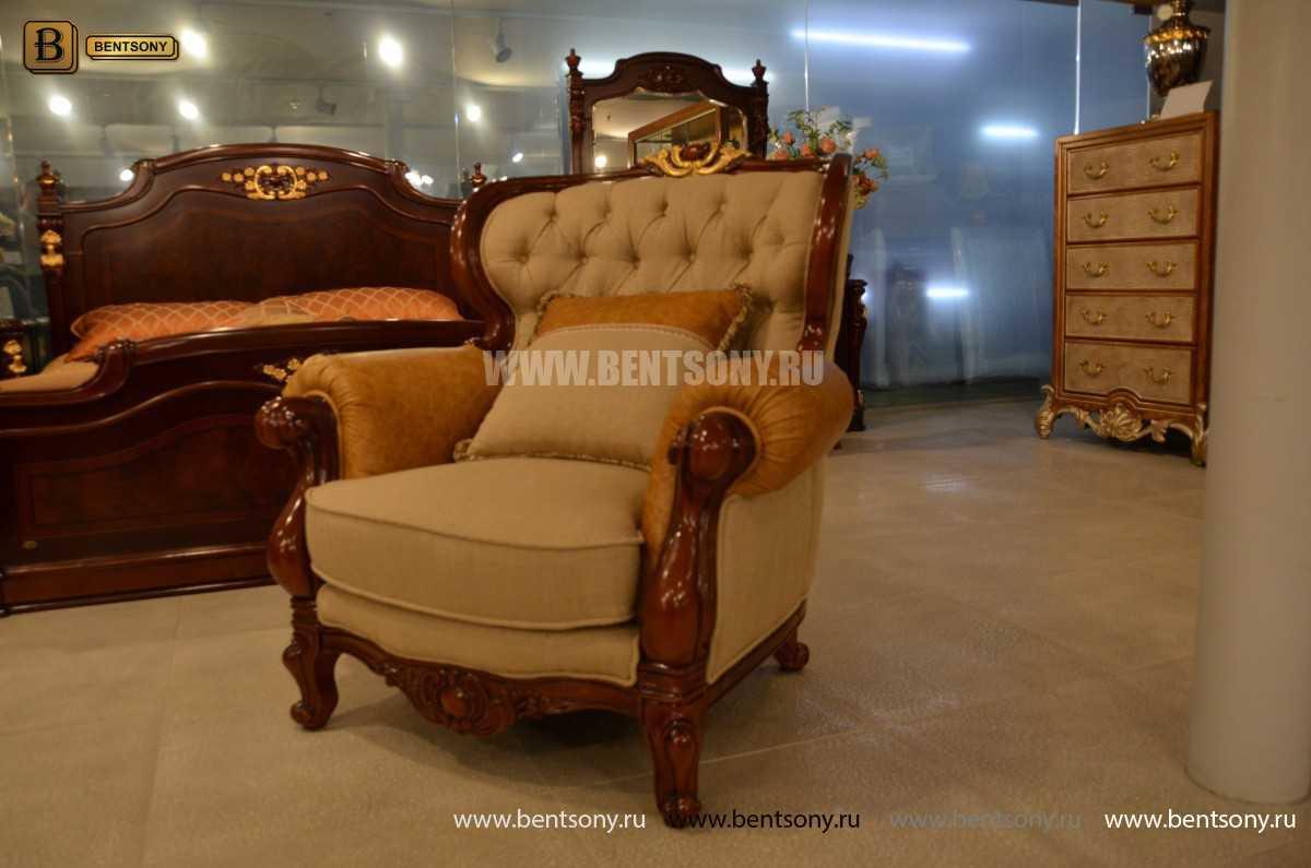 Кресло Вагнер А классическое (Подлокотники кожа) распродажа