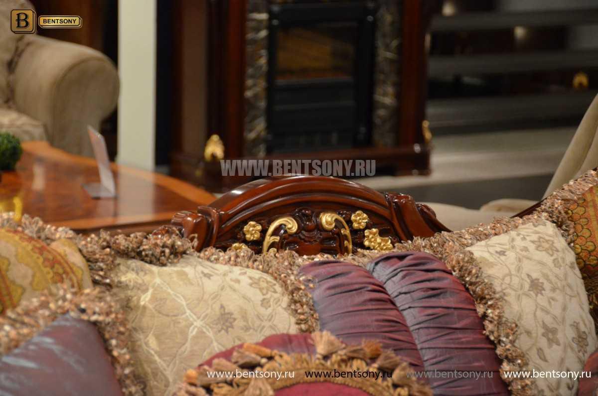 Диван Двойной Вагнер С (Кушетка, Ткань, подлокотники кожа) в интерьере