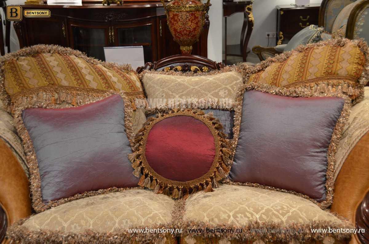 Диван Двойной Вагнер С (Кушетка, Ткань, подлокотники кожа) каталог мебели с ценами