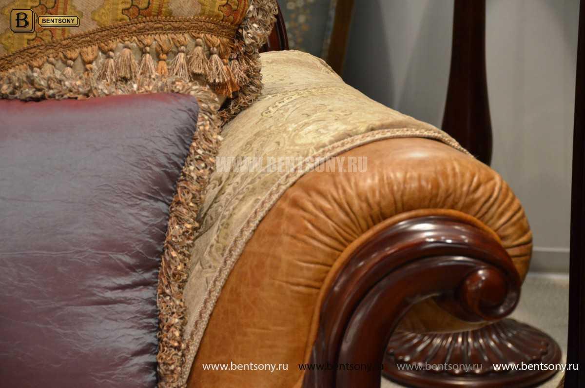 Диван Двойной Вагнер С (Кушетка, Ткань, подлокотники кожа) каталог