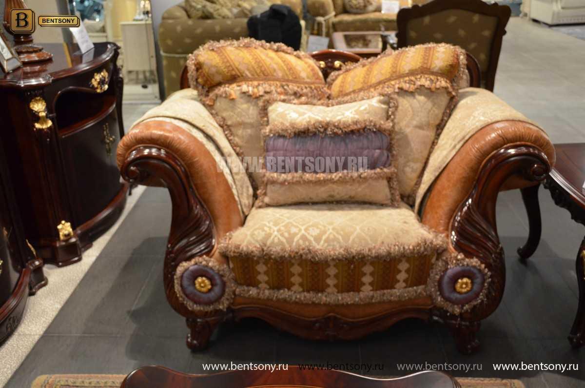 Кресло Вагнер С классическое (Подлокотники кожа) купить в СПб
