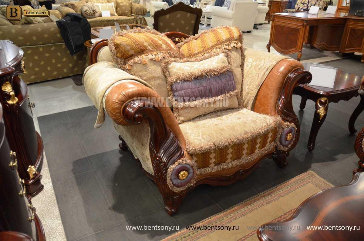 Кресло Вагнер С классическое (Подлокотники кожа) магазин Москва