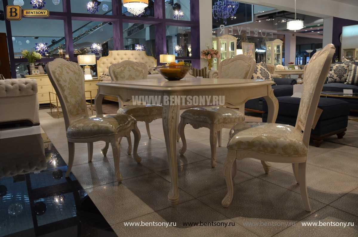 Стол обеденный прямоугольный Флетчер-W (Классика, массив дерева)