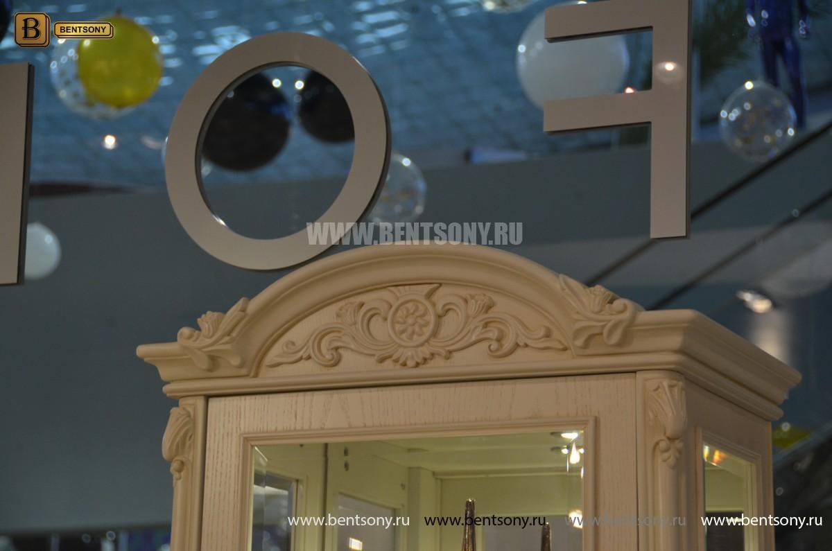 Витрина однодверная Флетчер-W (Классика, массив дерева) купить в СПб