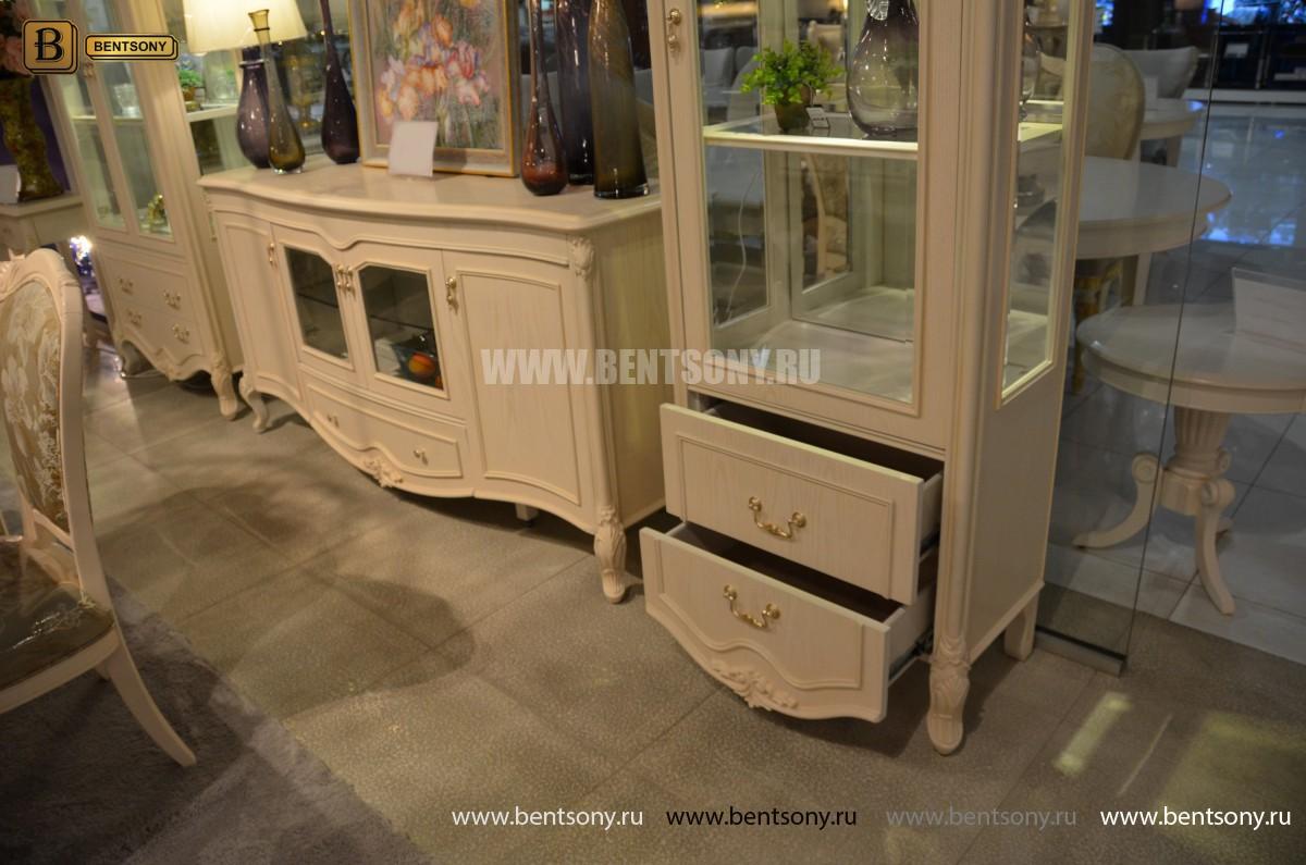 Витрина однодверная Флетчер-W (Классика, массив дерева) каталог мебели с ценами
