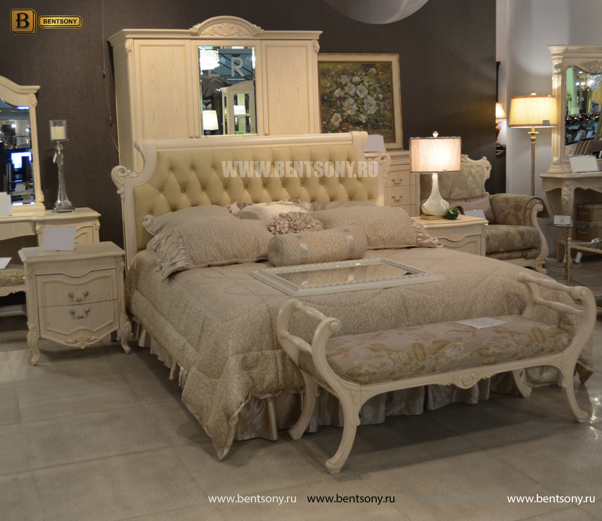 Кровать Флетчер-W D (Классика, Ткань) фото