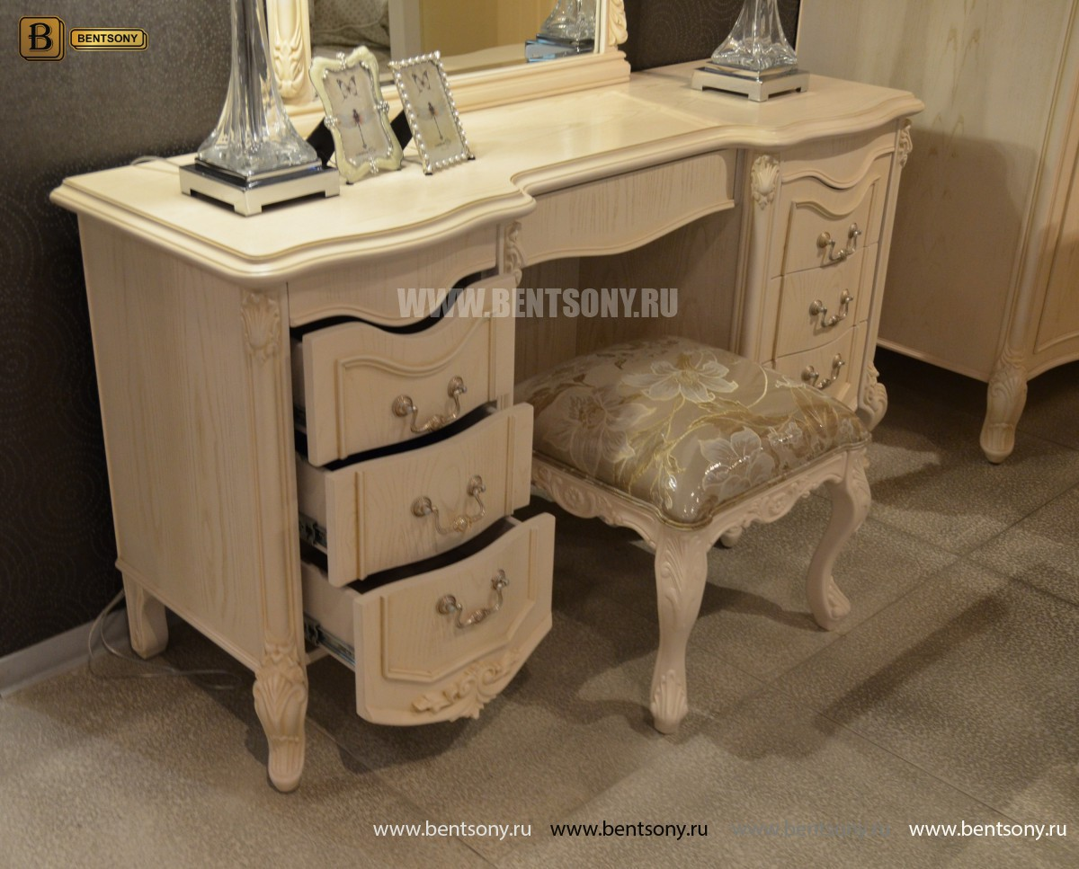 Стол туалетный Флетчер-W А с зеркалом (Классика, массив дерева) магазин Москва