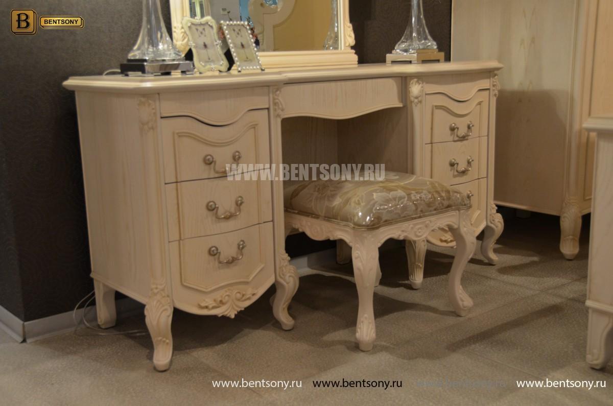 Стол туалетный Флетчер-W А с зеркалом (Классика, массив дерева) для квартиры