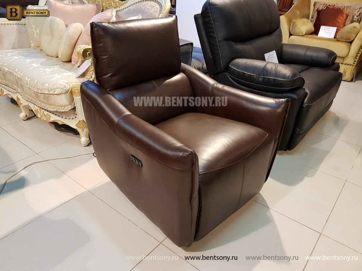 Кресло Порто цвет коричневый (Реклайнер, Натуральная кожа) каталог
