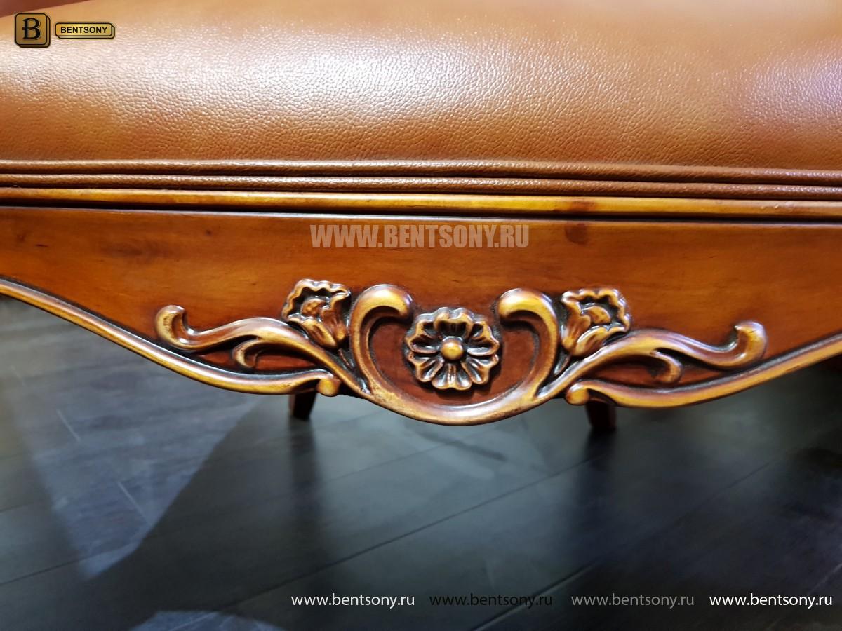 Кресло Флетчер малое (Классика, натуральная кожа) каталог с ценами