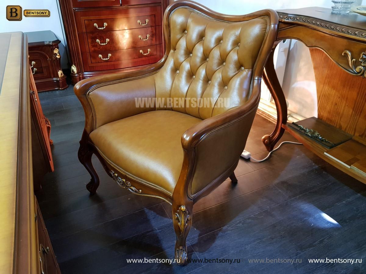 Кресло Флетчер малое (Классика, натуральная кожа) распродажа