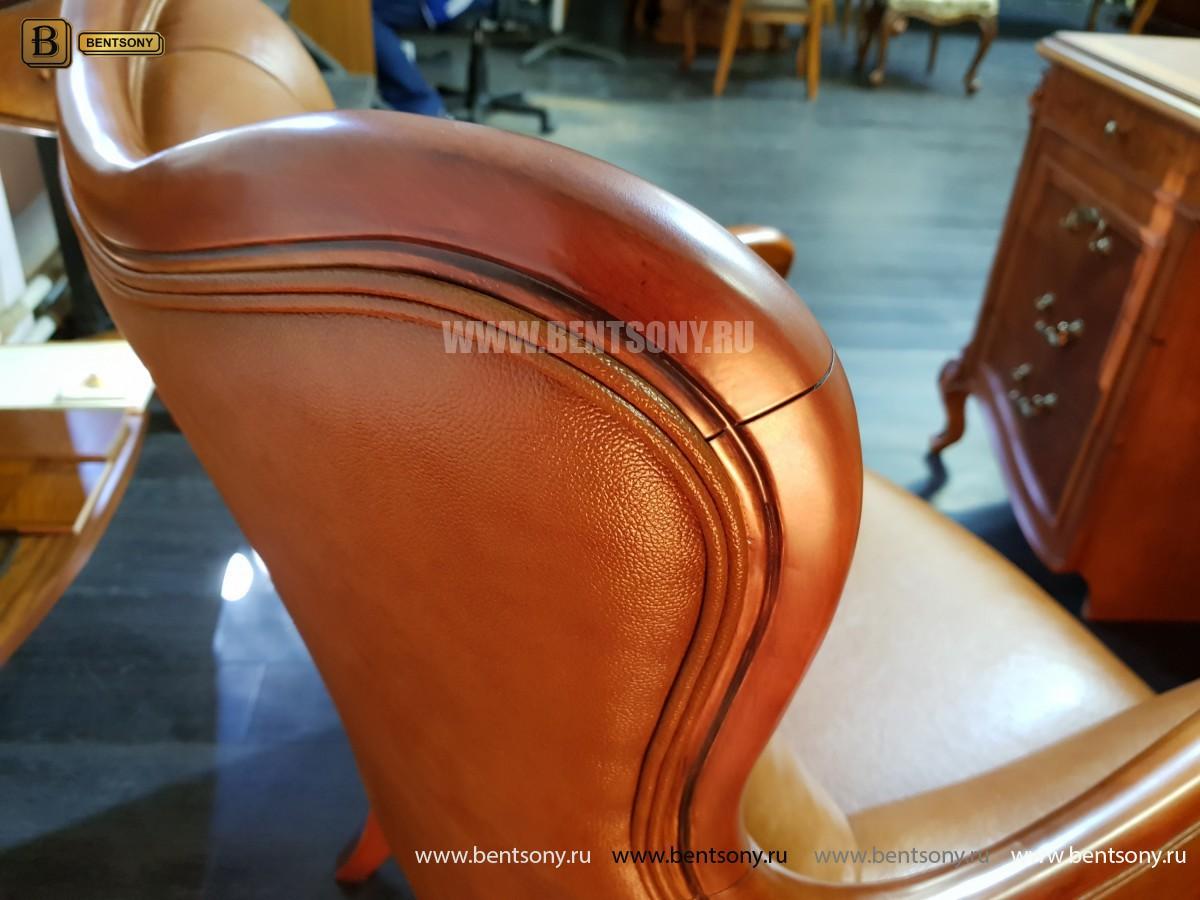 Кресло Флетчер малое (Классика, натуральная кожа) для загородного дома