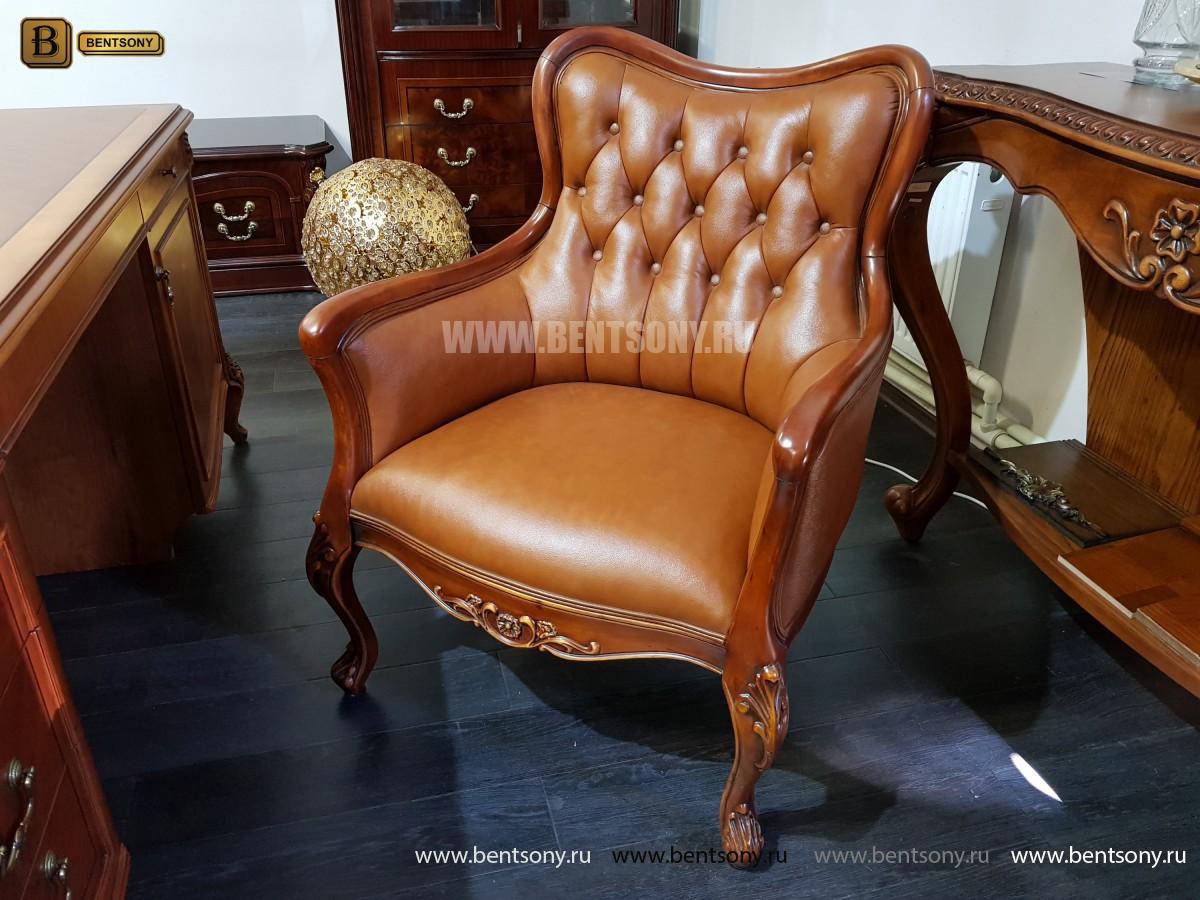 Кресло Флетчер малое (Классика, натуральная кожа) купить в СПб