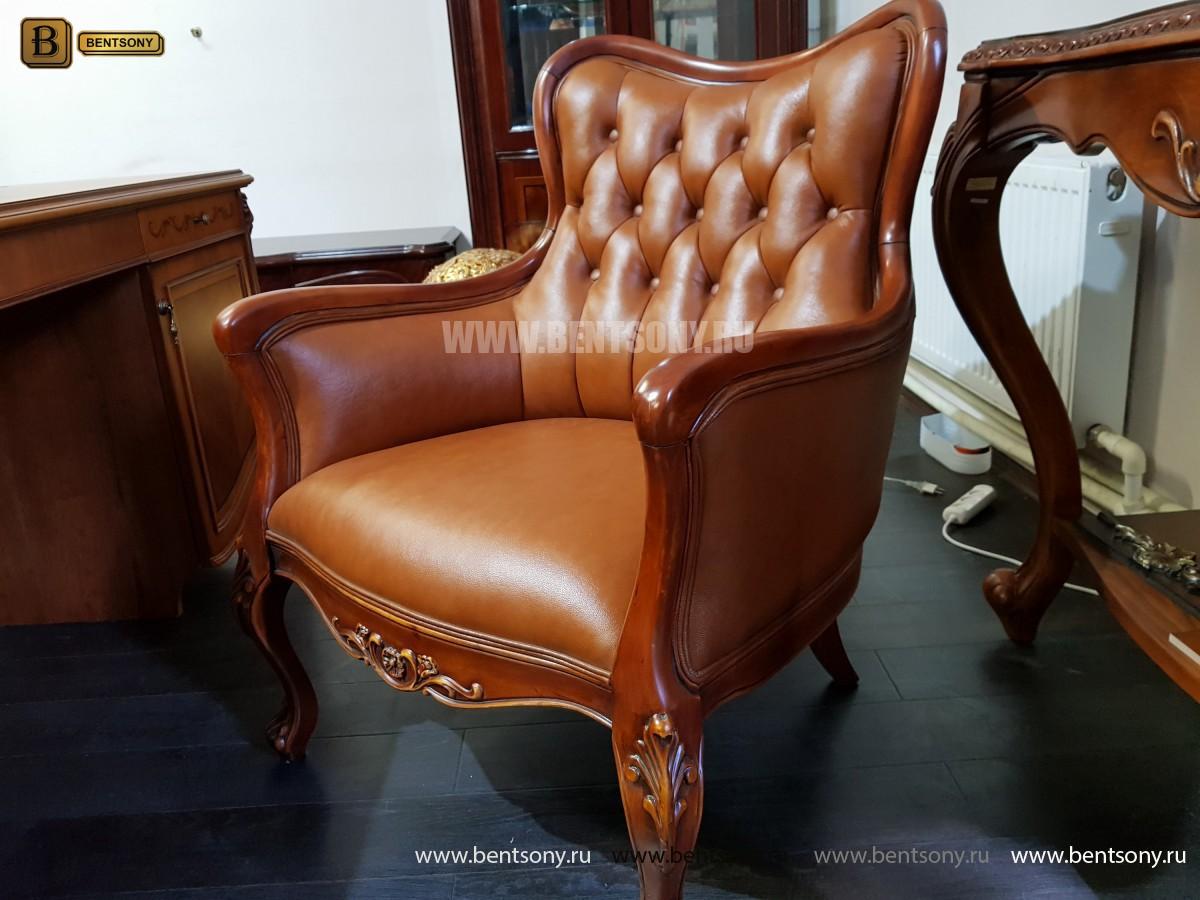 Кресло Флетчер малое (Классика, натуральная кожа) каталог мебели
