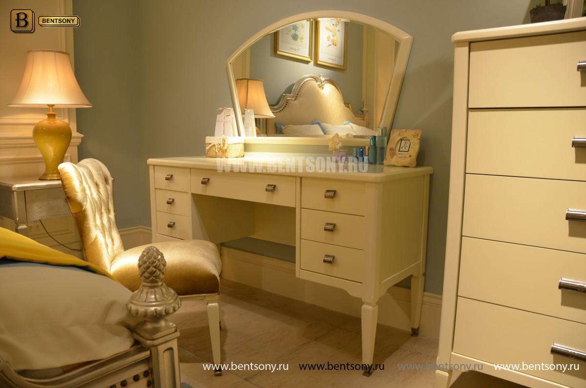 Спальня Фримонт-W белая (Классика, Ткань) для загородного дома