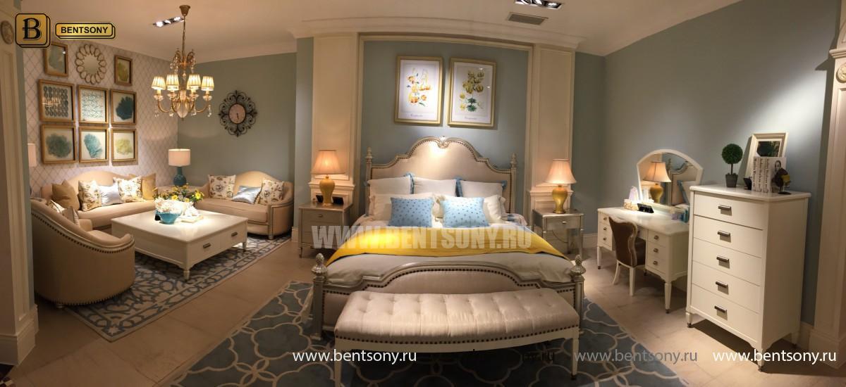 Спальня Фримонт-W белая (Классика, Ткань) каталог мебели