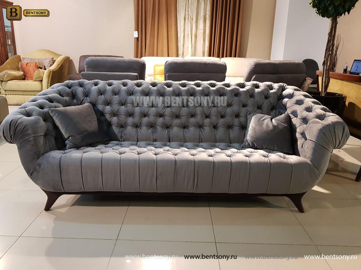 Диван Буранто (Прямой, Велюр, Капитоне) каталог мебели