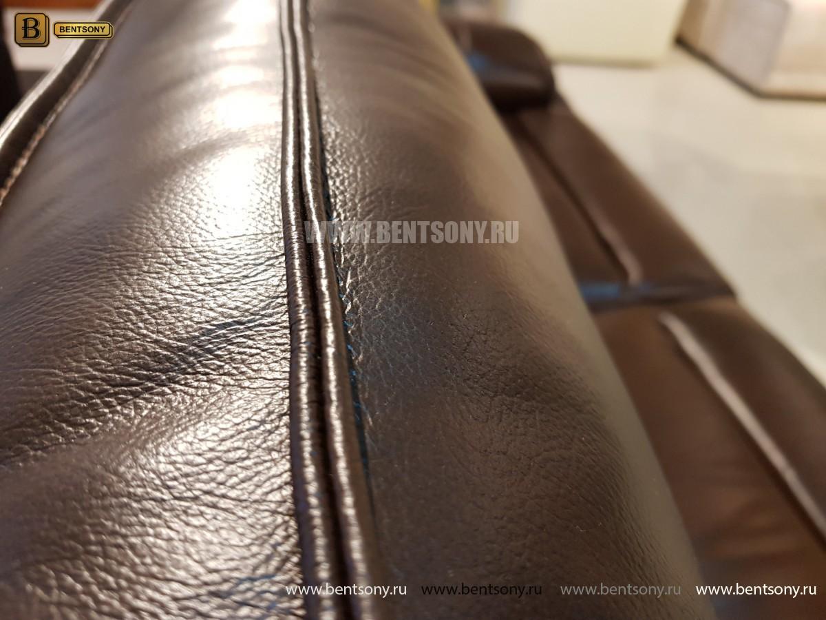 Диван Пьемонт коричневый (Прямой, Реклайнеры) цена