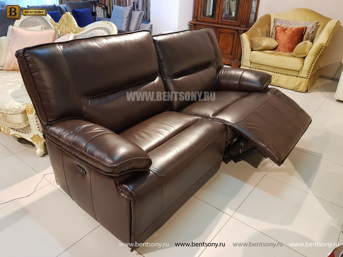 Диван Пьемонт коричневый (Прямой, Реклайнеры) официальный сайт цены