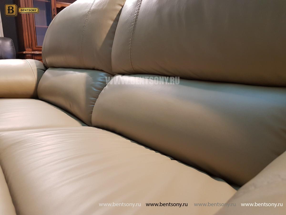 Диван Капонело двойной (Натуральная кожа, Домашний кинотеатр) каталог мебели с ценами