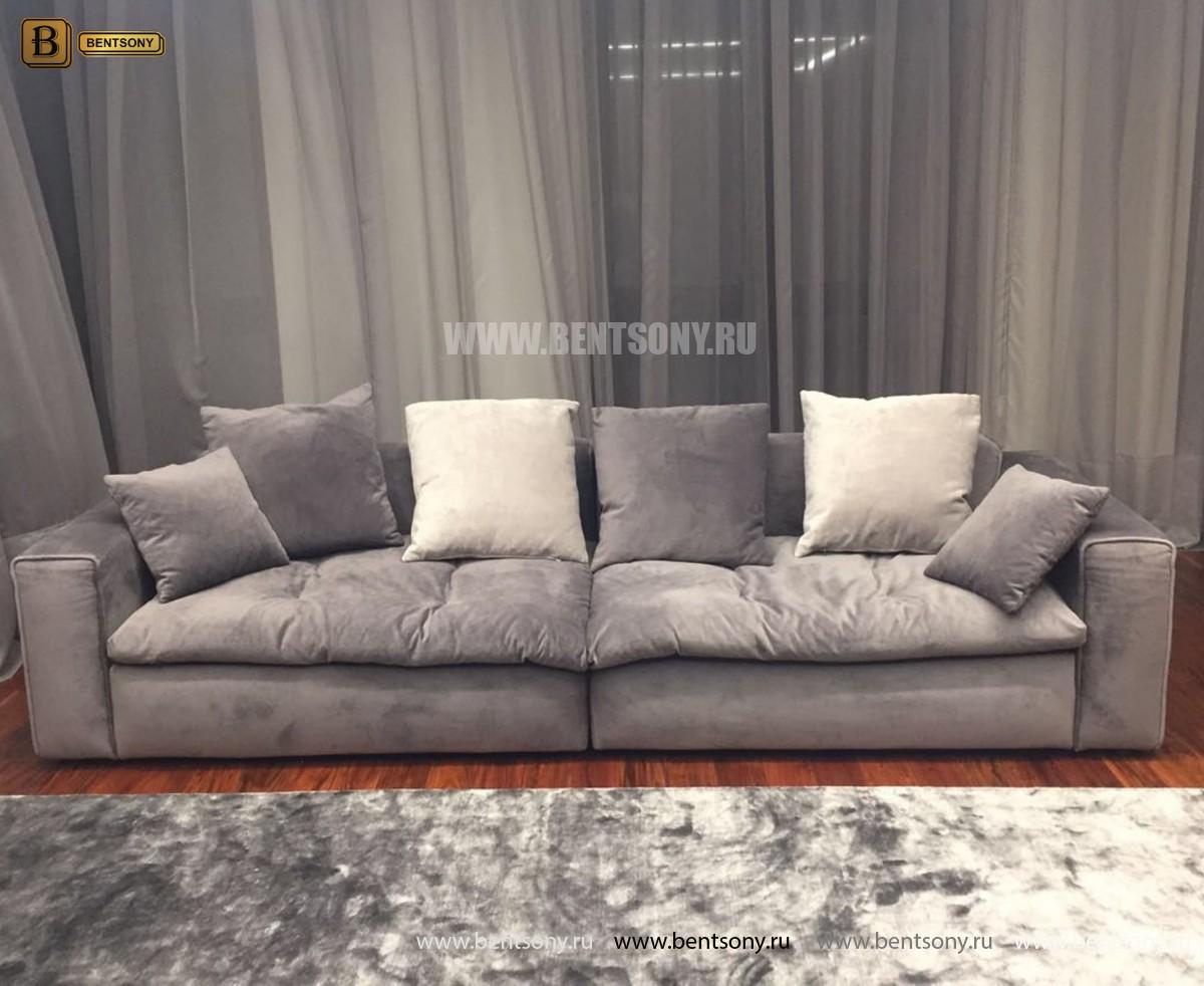 Диван Бениамино двойной, серый (Прямой) каталог с ценами