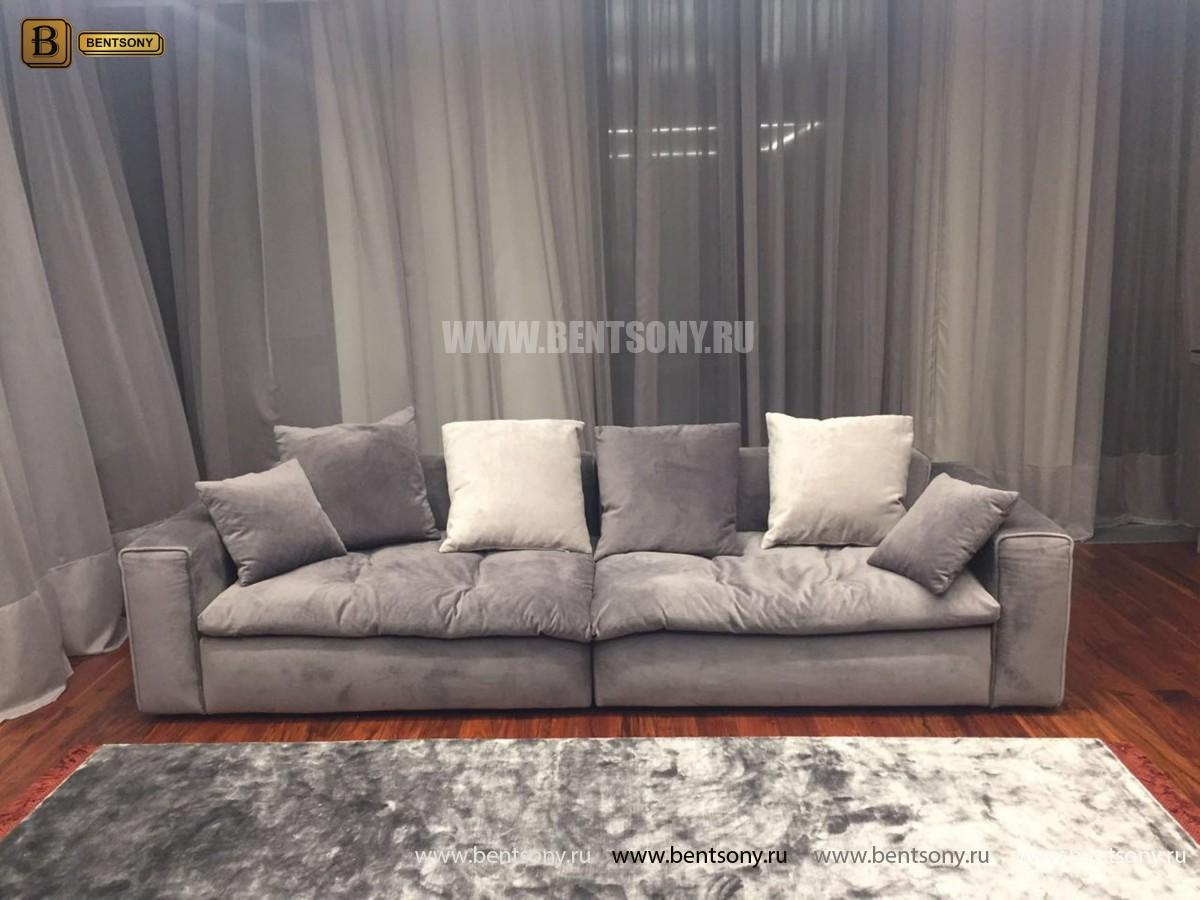 Диван Бениамино двойной, серый (Прямой) купить в СПб