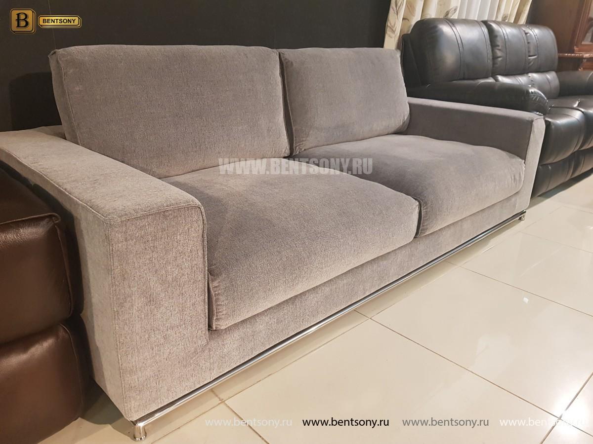 Диван Лучиано серый (Прямой) для квартиры