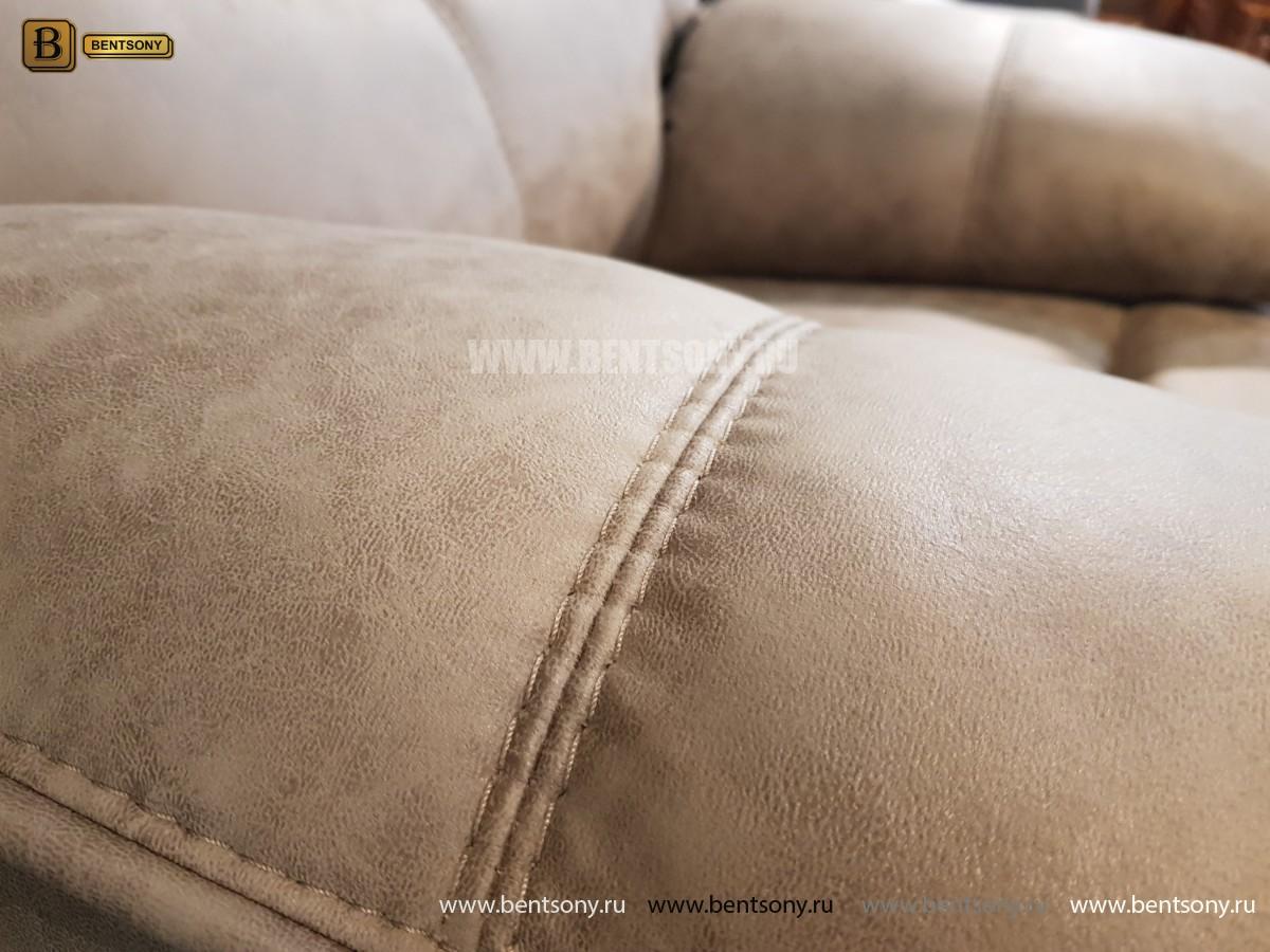 Кресло Прецо бургунди с реклайнером (Механизм качания, Ткань) купить в Москве