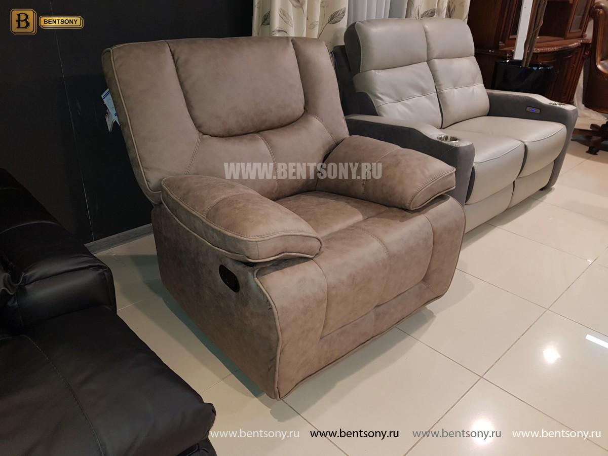 Кресло Прецо бургунди с реклайнером (Механизм качания, Ткань) цена