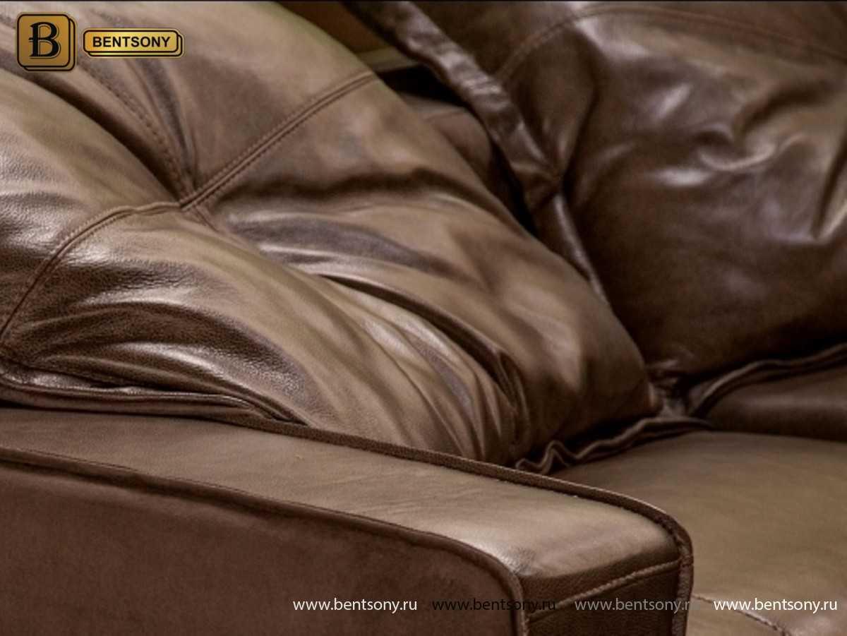 Диван Массимо (Винтаж, Натуральная кожа) для квартиры