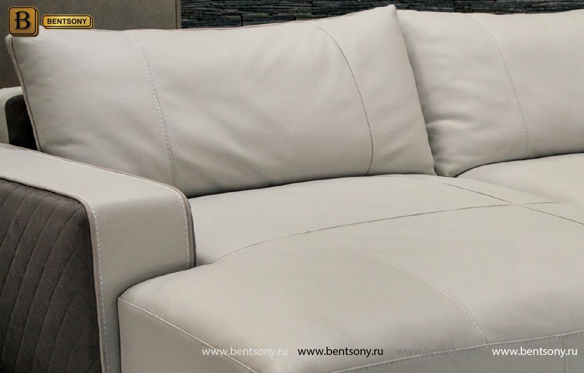 Диван Пианто (С Шезлонгом, Алькантара, Натуральная кожа) каталог мебели с ценами