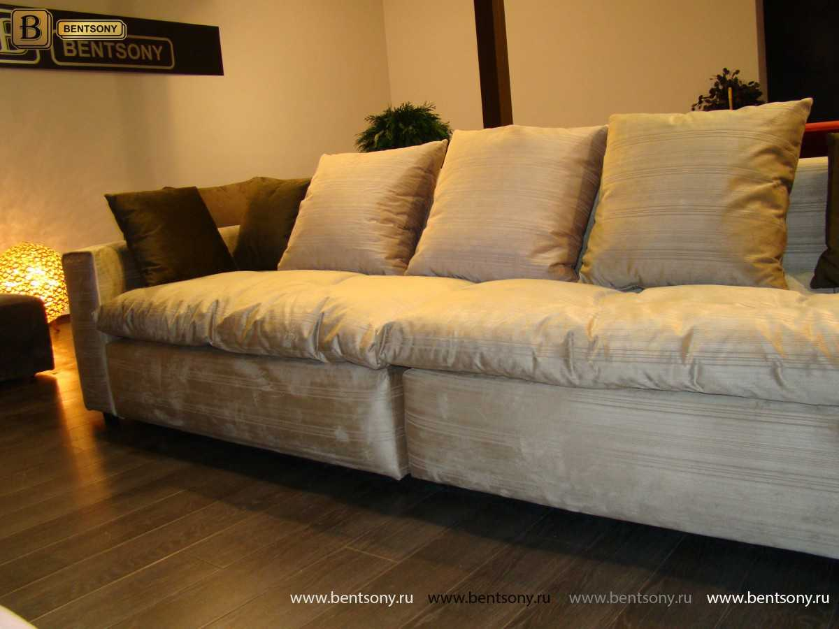 Прямой диван Beniamino велюр