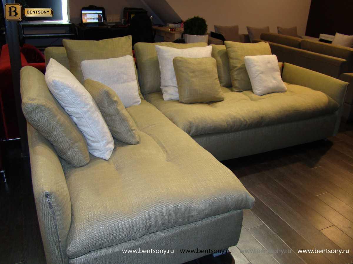 диван Арлетто в рогожке для гостиной