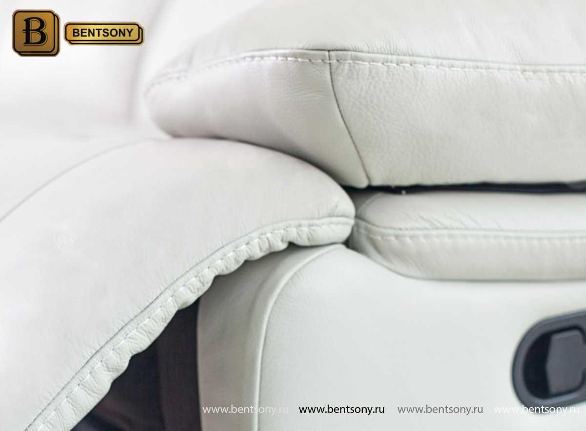 диван обивке натуральная кожа белый