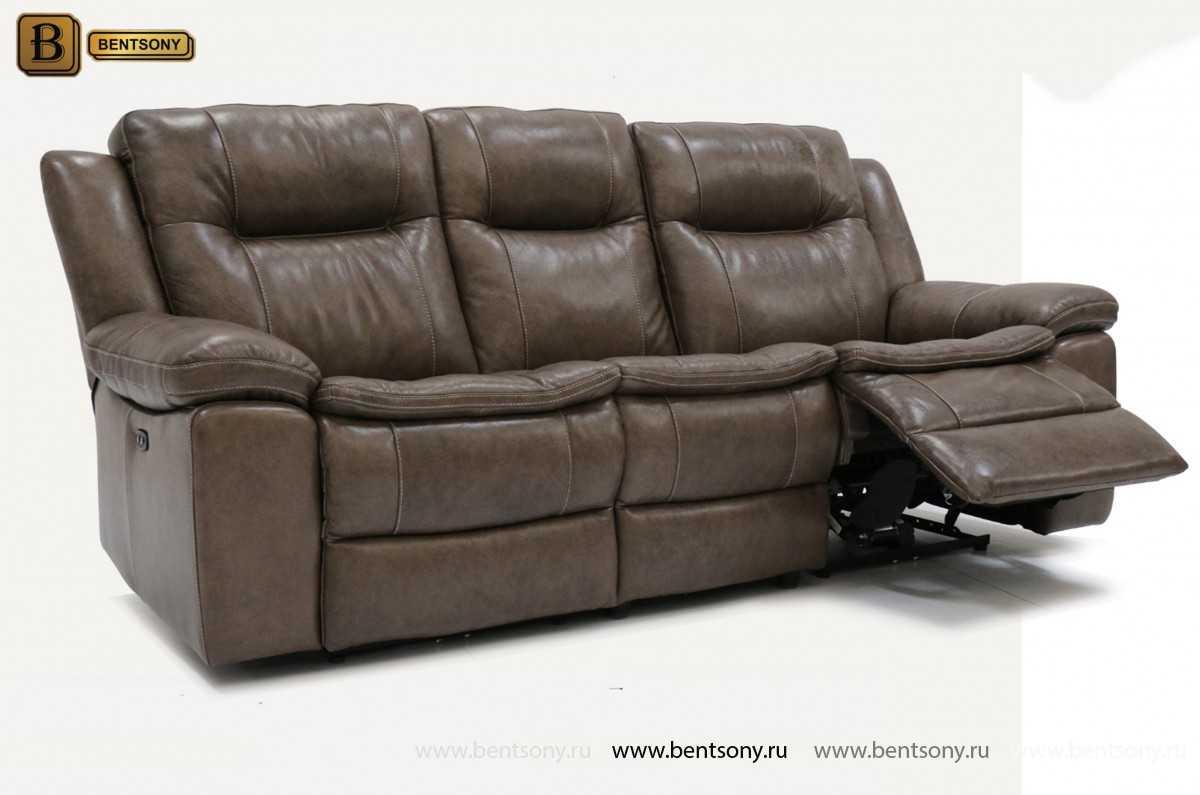 Прямой кожаный диван Донато
