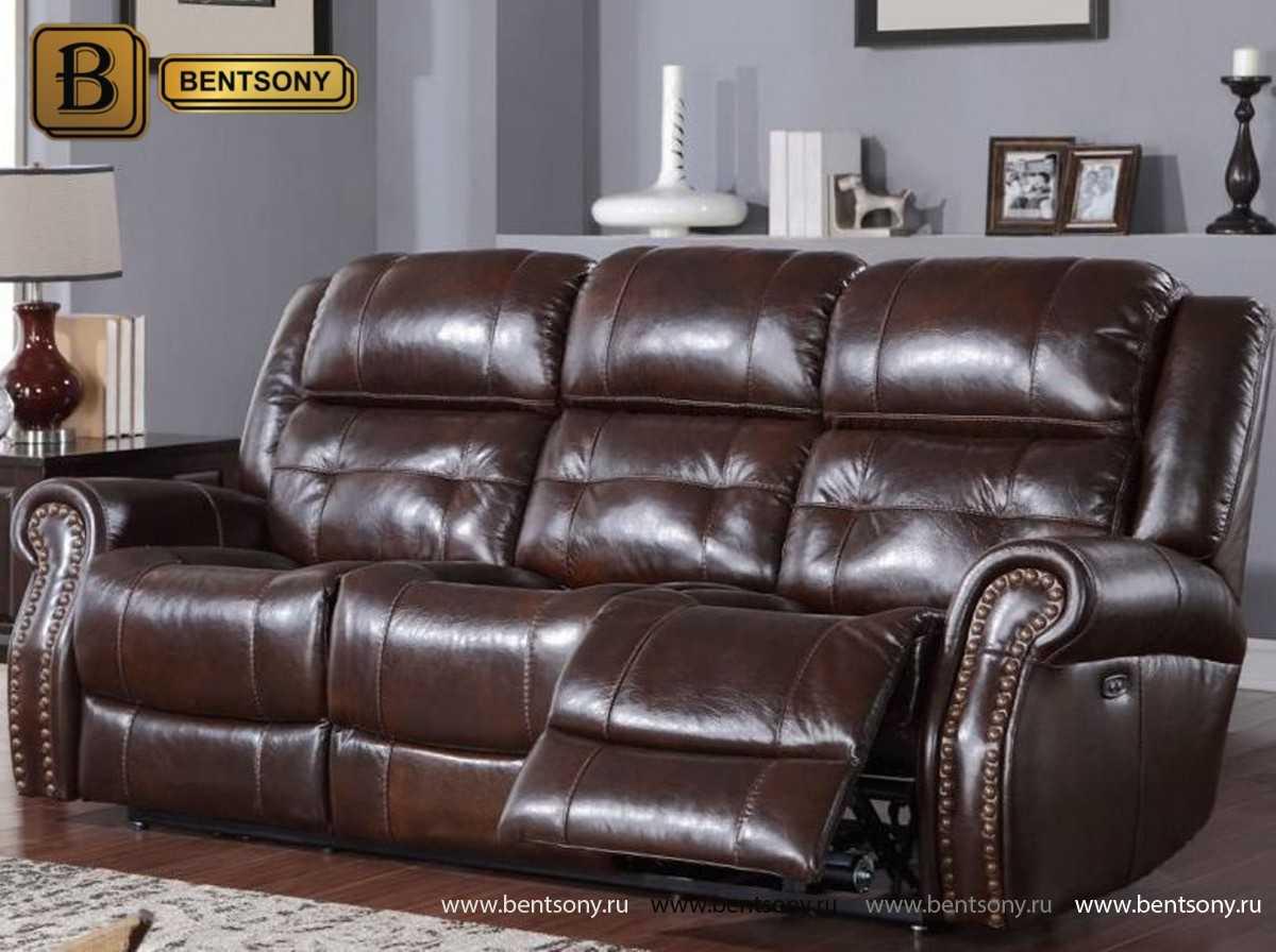 прямой кожаный диван Локсли