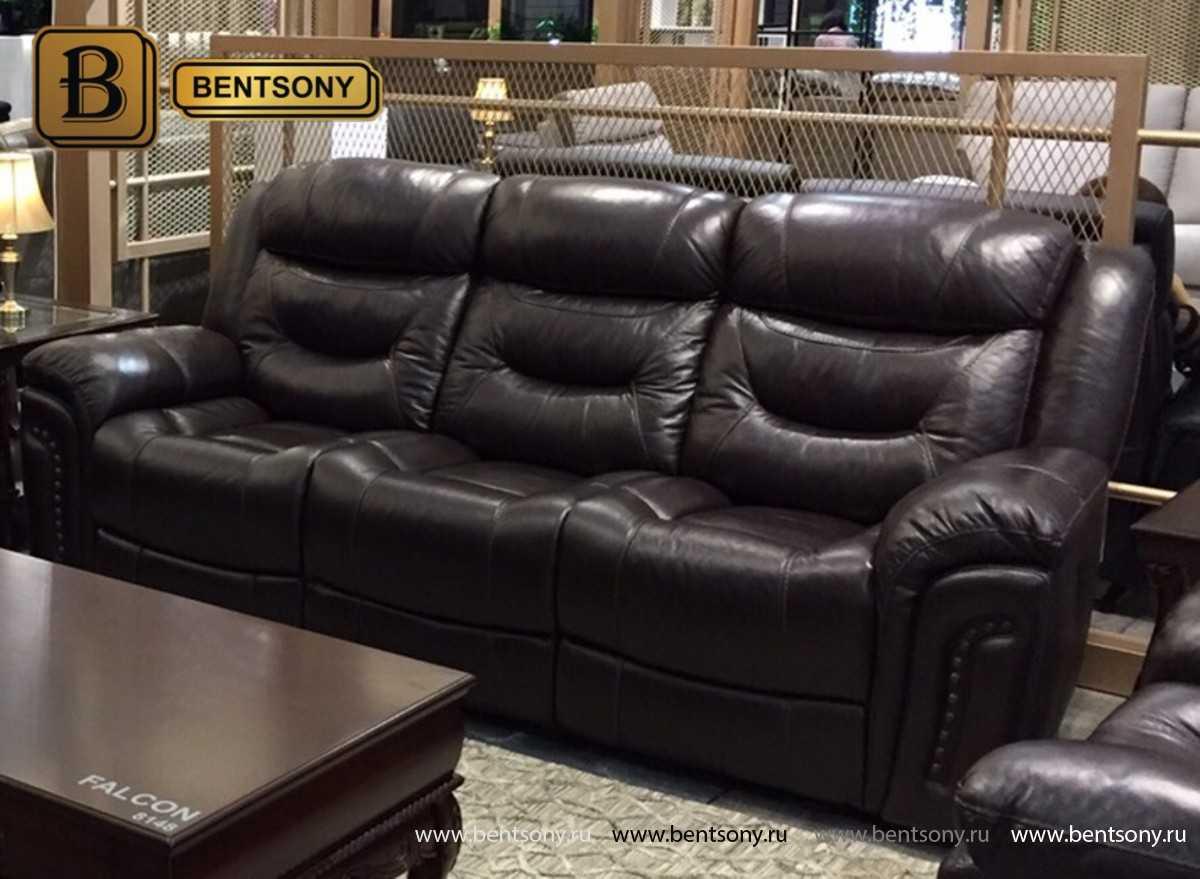 купить кожаный прямой диван Фалькон