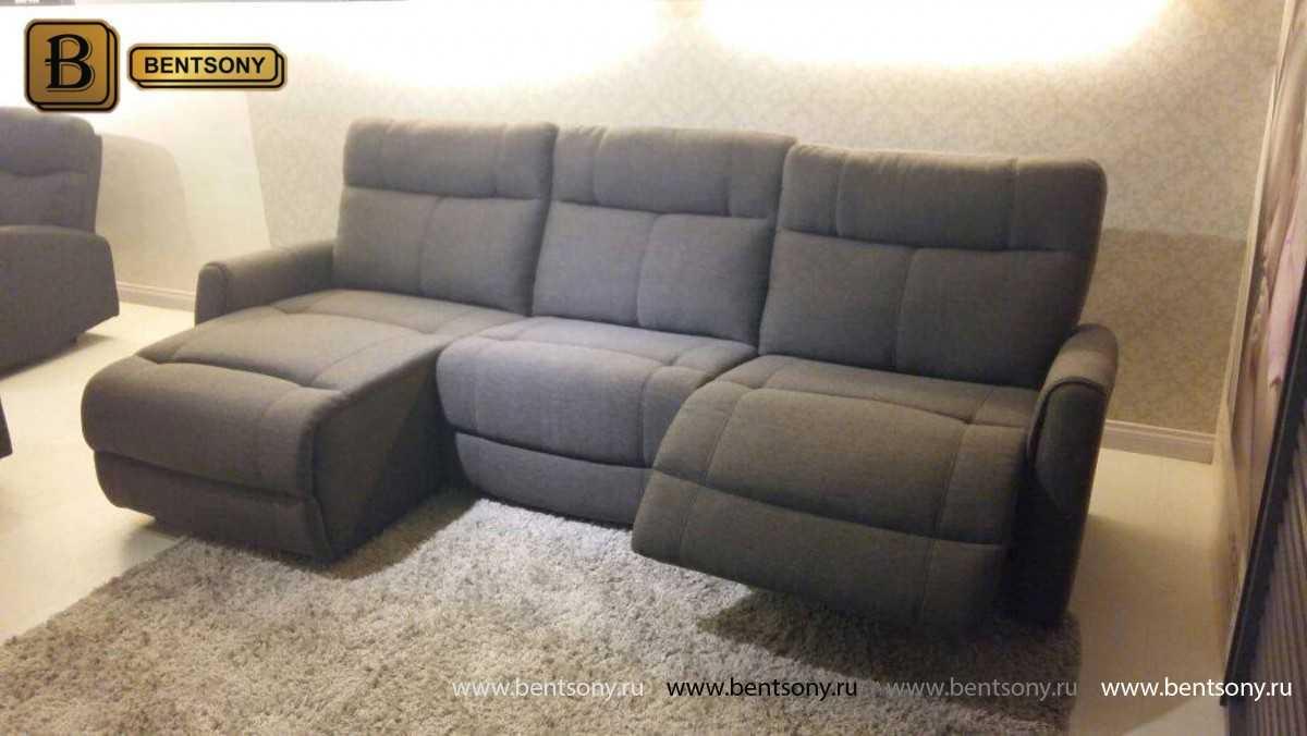 угловой кожаный диван Грейс в гостиной фото