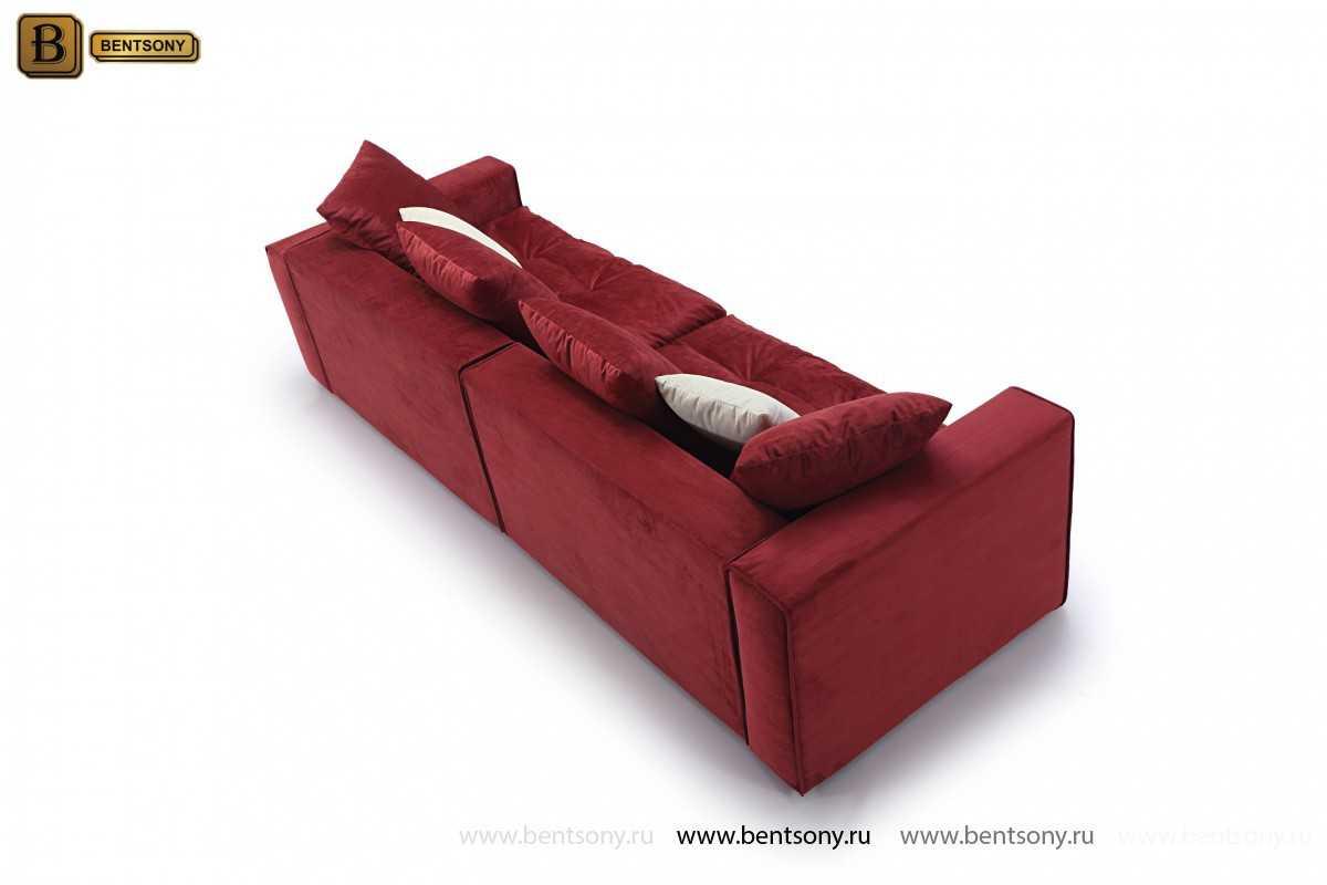 Прямой красный диван Бениамино
