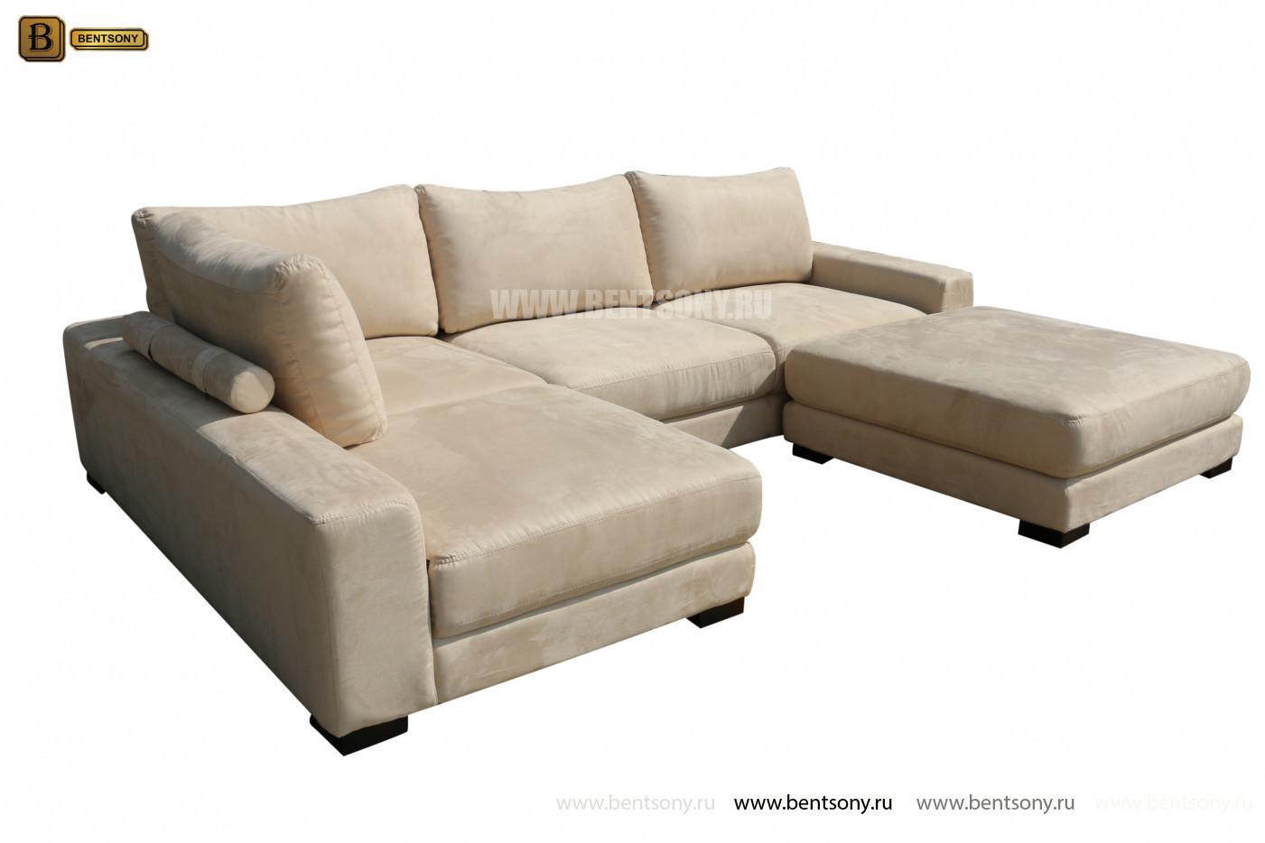угловой модульный диван Луиджи с пуфом купить