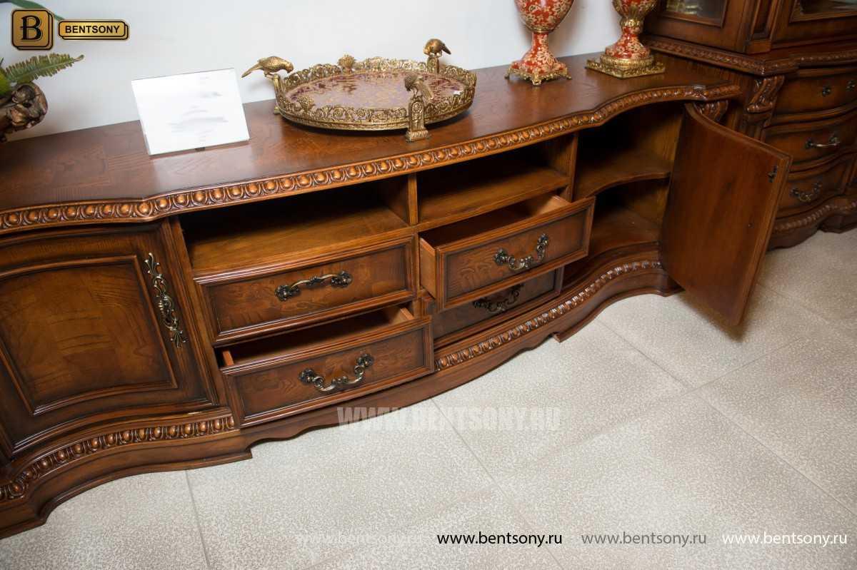 ТВ Тумба Монтана A (Столешница дерево, классика) каталог мебели с ценами