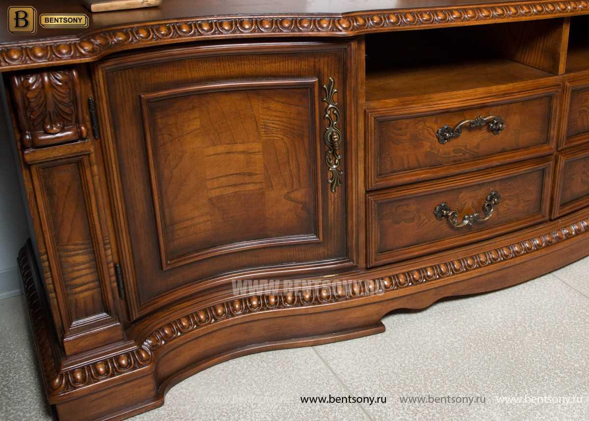 Стенка Монтана классическая (Массив дерева) каталог мебели с ценами