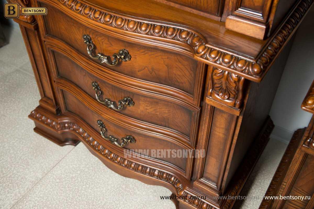 Витрина однодверная Монтана (Классика, массив дерева) каталог мебели
